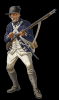 This is the uniform that William Rhodes would have wore as soldier in the Second Virginia Regiment at the Battle of Brandywine, on September 11, 1777, during the American Revolutionary War.