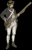 This is how William Rhodes may have look while as soldier in the Second Virginia Regiment, from 1777-1778.